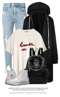"""20:54"" by monmondefou ❤ liked on Polyvore featuring GRLFRND and Converse"