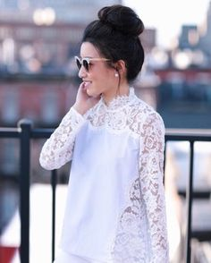 What lace blouse dreams are made of ❤️ http://liketk.it/2qVxb @liketoknow.it #liketkit