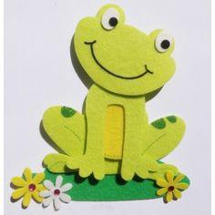 rana Más Frog Crafts, Cute Crafts, Preschool Crafts, Diy And Crafts, Crafts For Kids, Arts And Crafts, Paper Crafts, Safari Decorations, Felt Decorations