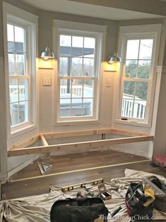 Steps to building a window seat.