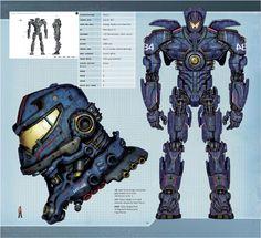 Pacific Rim: Man, Machines, and Monsters - Gipsy Danger - Pacific Rim Pacific Rim Kaiju, Pacific Rim Jaeger, King Kong, Godzilla, Gipsy Danger, Super Robot, Cg Art, Graphic, Gundam