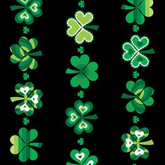 "HAPPY St Patrick/'s Day Fabric Cotton Craft Quilting Large Panel 23/"" x 44/""  IRISH"