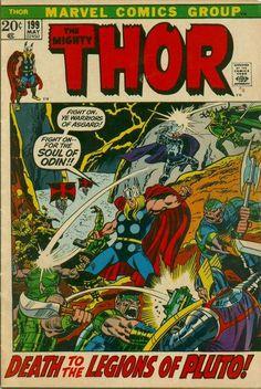 Thor #199. It's death-deity vs death deity - Hela vs Pluto.   #Thor #Hela #Pluto