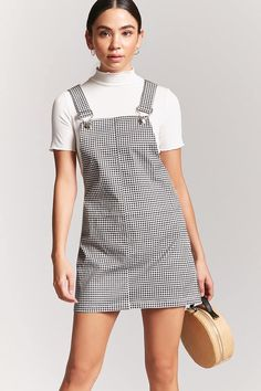 c57d809bfd6 Plus Size Gingham Overall Dress in 2019