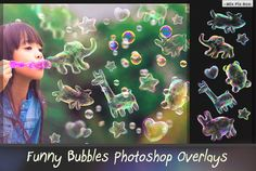 Funny Animals Soap Bubbles Overlay by MixPixBox on @creativework247
