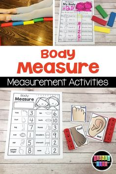 Body Measure Activity - Me and My Family Preschool Activities Measurement Activities, Preschool Learning Activities, Preschool Science, Preschool Lessons, All About Me Activities For Preschoolers, Montessori Preschool, Montessori Elementary, All About Me Preschool Theme Activities, Preschool About Me
