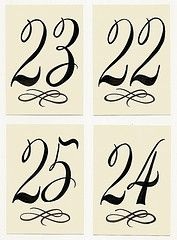 160 Best CalligraphyNumbers Images On Pinterest