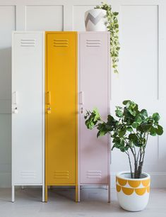 Mustard Made Lockers - The Skinny Tall Locker Blush Pink at Rose & Grey. Buy online now from Rose & Grey, eclectic home accessories and stylish furniture for vintage and modern living Small Lockers, Vintage Lockers, Repurposed Lockers, Deco Boheme, Sofa Furniture, Furniture Stores, Locker Furniture, Furniture Websites, Vintage Furniture