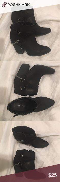 Black 'Very Volatile' boots Size 8 women's black with silver detail boots. Very lightly worn- for sale only. Very Volatile Shoes Ankle Boots & Booties