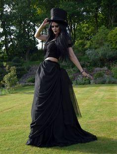 Bavmorda Bustle Skirt from www.moonmaiden-gothic-clothing.co.uk