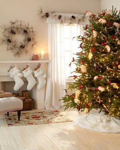 Winter white holiday decor
