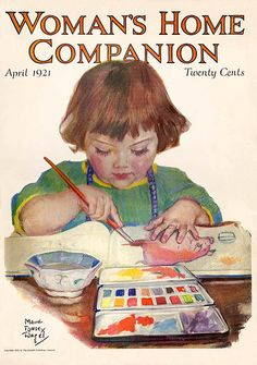 """Woman's Home Companion"" magazine cover - April 1921"