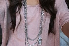 I only wear long necklaces like these
