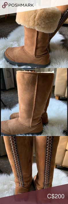 Uggs - Ultimate Tall Excellent used condition. Bought last year and only wore about New stain proof technology treated. Plus Fashion, Fashion Tips, Fashion Trends, Bearpaw Boots, Ugg Shoes, Winter Rain, Rain Boots, Uggs, Technology