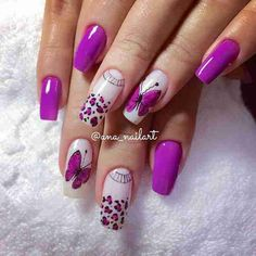 Risultati immagini per unhas decoradas Pretty Nail Designs, Colorful Nail Designs, Nail Art Designs, Long Nail Art, Long Nails, Trendy Nails, Cute Nails, Nailed It, Almond Nails Designs