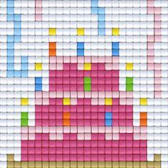 Pixelhobby © All rights reserved  #party #specialday #birthday #verjaardag #pixels #pixelart #pixelen #pixelhobby #cake #pie