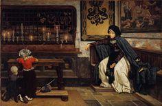 tissot - Marguerite in Church. 1860