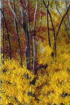 Autumn Woods - by Dancing Light Fused Glass Studio