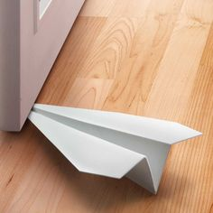 Buy Last Stop Paper Plane Door Stopper - by Fred online and save! If you've ever flown paper airplanes, then you know where they all eventually land – yes, wedged under your door. So we've built an airplane with that. Objet Deco Design, Fly Paper, Metal Design, Blog Deco, Door Stop, Home Accessories, Sweet Home, Design Inspiration, Daily Inspiration