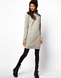 Sweat Dress In Quilted Jersey.  #Fashion #conglamerate