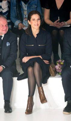 Crown Princess Mary of Denmark visits The Copenhagen International Fashion Fair at the Bella Center on 01 Feb 2013