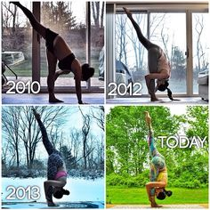 Transformation Tuesday... Yogi style! Standing split is definitely not my favorite pose... At all. Progress has been really, REALLY slow... But the important point is that there HAS BEEN progress. What is the pose that drives you mad? Remember, the final outcome never makes you a better yogi... It is always a never ending journey.