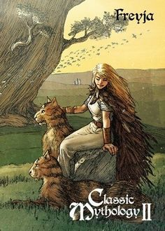 Perna Studios is very excited to announce our third trading card set entitled Classic Mythology II. This set will focus on 5 timeless Classic Mythologie. Norse Pagan, Old Norse, Norse Mythology, Norse Goddess Of Love, Goddess Art, Viking Art, Viking Warrior, Viking Woman, Wicca