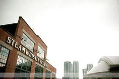 Steam Whistle Brewing building Toronto Skyline, Brewery Wedding, Whistles, Great View, Brewing, Boston, Multi Story Building, Rustic, Country Primitive