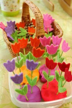 bloemen sorteren op kleur - MontessoriNet