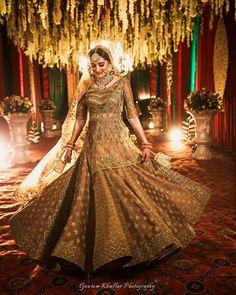 Unique Bridal Lehenga designs that is every Bride's pick in Orange Lehenga, Pink Lehenga, Lehenga Top, Indian Lehenga, Lehenga Choli, Saree, Golden Bridal Lehenga, Indian Bridal, Bollywood Bridal