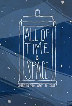 """""""All of Time & Space"""" Doctor Who Art Print Doctor Who Art, Tenth Doctor, It's All Happening, Verbatim, Don't Blink, Geronimo, Dr Who, Superwholock, Comic Character"""