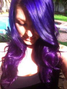 Blue and purple ombre hair - this is what I'm going to do with my streaks this summer!