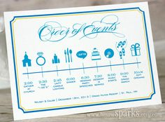 Custom Wedding Timeline Printable DIY by HeSawSparks on Etsy, $30.00