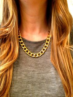 Chunky Cable Chain Necklace by elladolce on Etsy, $26.00