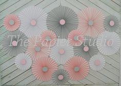 Pink and Gray Set of Seventeen 17 Paper by ThePapierStudio