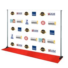 Cheap Step and Repeat Backdrop Banner / Stand / Red Carpet