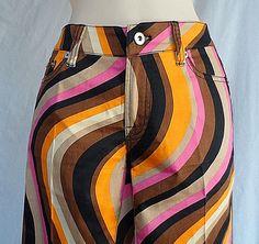 Loud Mouth Golf Stripes Womens Long Pants Multi Color Size 4 New #LoudmouthGolf