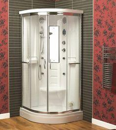 One Piece Corner Shower Stalls MASSAGE WALL PANEL JETS