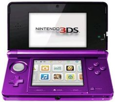 Nintendo 3DS Midnight Purple I want one in this color, so cute.