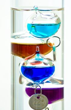 Galileo Thermometer - I love Science and everything to do with it.