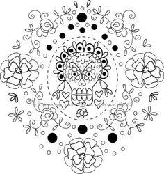 sugar scull embroidery DOD