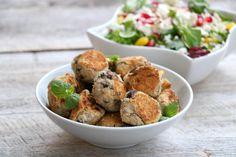 Saftige, gode bønneboller Frisk, Crunches, Healthy Recipes, Vegan, Cooking, Ethnic Recipes, Food, Kitchen, Kochen