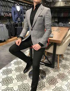 Blazer Outfits Men, Stylish Mens Outfits, Men Blazer, Indian Men Fashion, Mens Fashion, Daily Fashion, Streetwear, Grey Sport Coat, Classy Suits