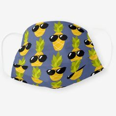Shop Pineapple Hawaiian Sunglasses Funny Tropical Cloth Face Mask created by occupation_tshirts. Cute Sunglasses, Pineapple Pattern, Diy Face Mask, Face Masks, Health And Safety, Snug Fit, Sensitive Skin, Hawaiian, First Love