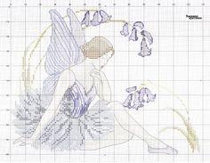 fata ballerina (free) Biscornu Cross Stitch, Cross Stitch Fairy, Cross Stitch Angels, Cross Stitch Flowers, Cross Stitch Embroidery, Dragons, Stitch And Angel, Cute Images, Le Point