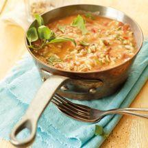 Risotto tomates mozzarella - 9 PP (pas mal mais mieux avec un peu de vin blanc :))