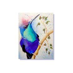 ACEO Original Artwork Violet Crowned  Woodnymph Hummingbird Watercolor Painting #Realism by Carolynnzart