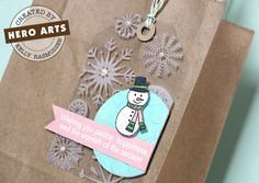 Love the layout of this tag and the stamping onto the clear cardstock tag.