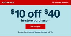 Check Your Emails! Possible $10 off $40 Purchase at CVS!