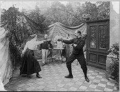 Duelling - Fencers in April, 1904